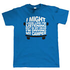 In My Head Driving My Camper, Mens Campervan T Shirt -  Gift Him Dad Bus T3 T5