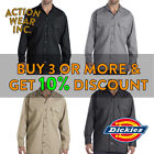 DICKIES 574 MEN'S LONG SLEEVE BUTTON FRONT SHIRT WORK SHIRTS UNIFORM COLLAR