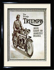 Vintage motor cycle , the trusty Triumph £10.99 GBP on eBay