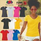 Fruit Of The Loom Lady-Fit Valueweight V-Neck T-Shirt, 10-Colour