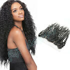 "13x4"" Lace Frontal Closure Malaysian 8A Curly Human Hair Lace Closure"