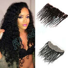 "Curly 13x4"" Lace Frontal Closure Peruvian 8A Curly Human Hair Lace Closure"