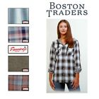 NEW Boston Traders Women's Lightweight Hooded Flannel Shirt VARIETY Size&ColoB25