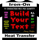 Build Your Text Iron On Custom Heat Transfer Vinyl Buy 2 or More 10% Off