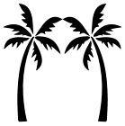 Palm Trees Vinyl Decal Sticker Home Wall Cup Car Decor Choose Size Color