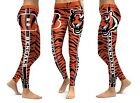 Cincinnati Bengals Leggings Small-XXL (0/2-14) Football Cincy #18 Green Yoga on eBay