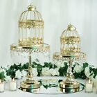 Gold Metallic Bird Cages Wedding Card Holder Centerpieces Ceremony Decorations