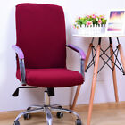 Knitting Fabric Slipcovers Computer Chair Cover Office Seat Protector 5 Colors