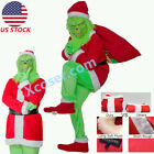 Santa Grinch Cosplay Costume How the Grinch Stole Christmas Suit Outfits Adult