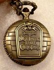 PICK NIGHTMARE BEFORE CHRISTMAS 2-IN-1 NECKLACE/KEYRING POCKET WATCH USA SELLER