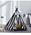 India Dog Cat Play House Washable Bed Puppy Kitten Kennel Tent Black White Tipi