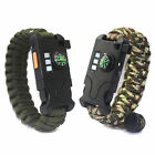 21-in-1 Survival Bracelet Paracord Hunting Compass Flint Scraper Whistle Kits