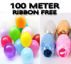Party 5 Inch Plain Helium Quality Latex Balloon & Ribbon - P