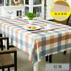 Elegant Tablecloth Lattice Printing Waterproof Anti-scalding Dinning Tabl