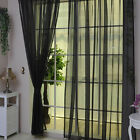 Tulle Voile home Door Window Curtain Drape Panel Sheer Scarf Divider Home Decor