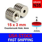 N35 Countersunk Ring Round Disc Strong Magnets Rare Earth Neodymium Hole
