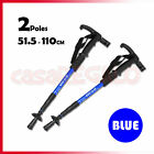 Hiking Trekking Poles Walking Sticks LED Adjustable Anti Shock Camping 2 Poles