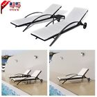 Patio Outdoor Poly Rattan Pool Sun Lounger Set Table Garden Sunbed Chaise Lounge
