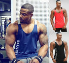 Gym Men's Muscle Sleeveless Tank Top Tee Shirt Bodybuilding Sport Fitness Vest image