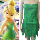 Tinker Bell Cosplay Tinkerbell Green Dress cosplay Fairy Adult Ladies Costume