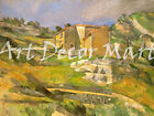 Houses In Provence-Cezanne - - CANVAS OR Impress WALL ART