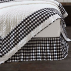 Annie Black Buffalo Check Country Cottage Bedding Cotton Gathered Bed Skirt image