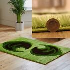 SPARKLE GREEN FLORAL 3CM SHAGGY CLEARANCE RUG ATTRACTIVE DESIGNER  RUG ON SALE