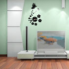 Alloy Butterfly Removable Diy Acrylic 3D Mirror Wall Sticker Decorative Clock