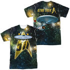 STAR TREK 50TH SHIP Licensed Adult Men's Graphic Tee Shirt SM-3XL F/B on eBay