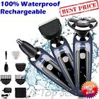 3in1 Rechargeable Mens Electric Shaver Razor Beard Hair Clipper Trimmer Rotary