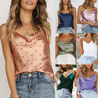 Sexy Lace Casual Satin Strap Vest Tops Tank Camisole T-Shirt Blouse Women
