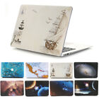 """Rose Floral Stamp World Map Matte Hard Case Shell for MacBook AIR PRO 11"""" 13""""15"""""""