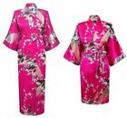 Promotional Bride Long Women Kimono Robe satin silk Night dressing Gown 2018NEW