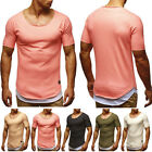 Fashion Men's Muscle Shirts Tee T-shirt Casual Tops Slim Fit Short Sleeve 13990