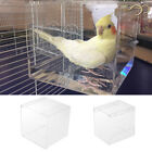 Bird Bath Clear - Finch, Canary, Budgie Large / Small - Hook On External Cage