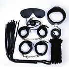7pcs/set-Adult-Sex-SM-Toys-Handcuffs-Cuffs-Strap-Whip-Rope-Neck-Bandage-Sexy-SMs