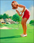 196463 Vintage Pin Up Golf Decor Wall Print Poster