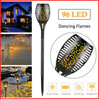 96LED Waterproof Solar Tiki Torch Light Dancing Flickering F
