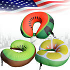 3D Fruit Print Ultralight Micro Beads U Neck Pillow Travel Head Cervical Support
