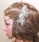 Rhinestone Comb Crystal Headpiece Bridal Birdcage Veil Wedding Hair Accessories