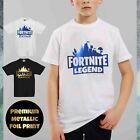 Kids Fortnite Legend T-Shirt Top Boys Girls Summer Childrens PS4 XBOX Gamer Tee