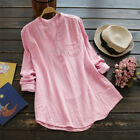 Women Retro V Neck Long Sleeve Casual Loose Baggy Tunic Tops Blouse Plus Size <br/> ❤️US Seller❤️60 Days Free Return❤️Free Shipping❤️S-5XL