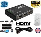 3 Or 5 PORT HDMI Splitter Switch Selector Switcher Hub Remote 1080p For HDTV PS3