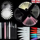 50 pcs NAIL COLOURS DISPLAY Clear Pink Black White SWATCHES Practice Pop Stick
