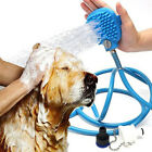 Pet Bathing Massager Shower Tool Cleaning Washing Bath Sprayers Dog Brush lot N3