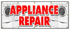 brands of home appliances - APPLIANCE REPAIR BANNER SIGN refrigerator washer dryer all brands home