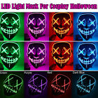 Halloween Mask LED Light Up Funny Masks The Purge Election Year Great Festival
