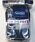 Men's Jockey 3-pack + 1 Free Active Stretch Midway Briefs 95% Cotton - (B-G-N)