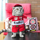 Pet Dog Cat Pirate Driver Costume Outfit Jumpsuit Clothes Halloween Christmas