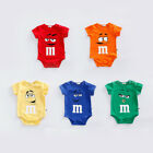 Внешний вид - NEW BABY BOY GIRL SUMMER FUNNY M BEANS ROMPER NEWBORN TODDLE BABYGROWS PLAYSUITS